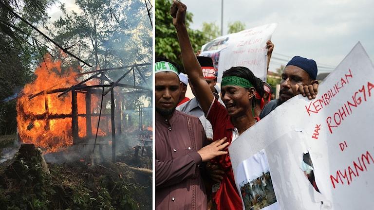 Ett hur i brand och protester.