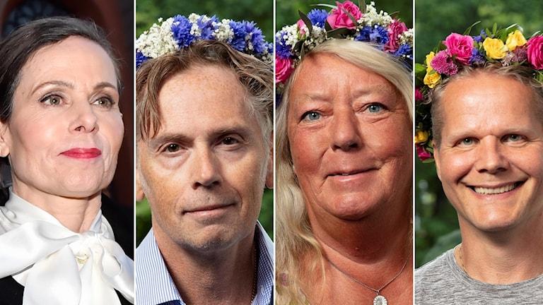 Sara Danius, Stefan, pappa till Ebba, Ingrid Wall, mamma till Kim Wall och Kaj Linna.