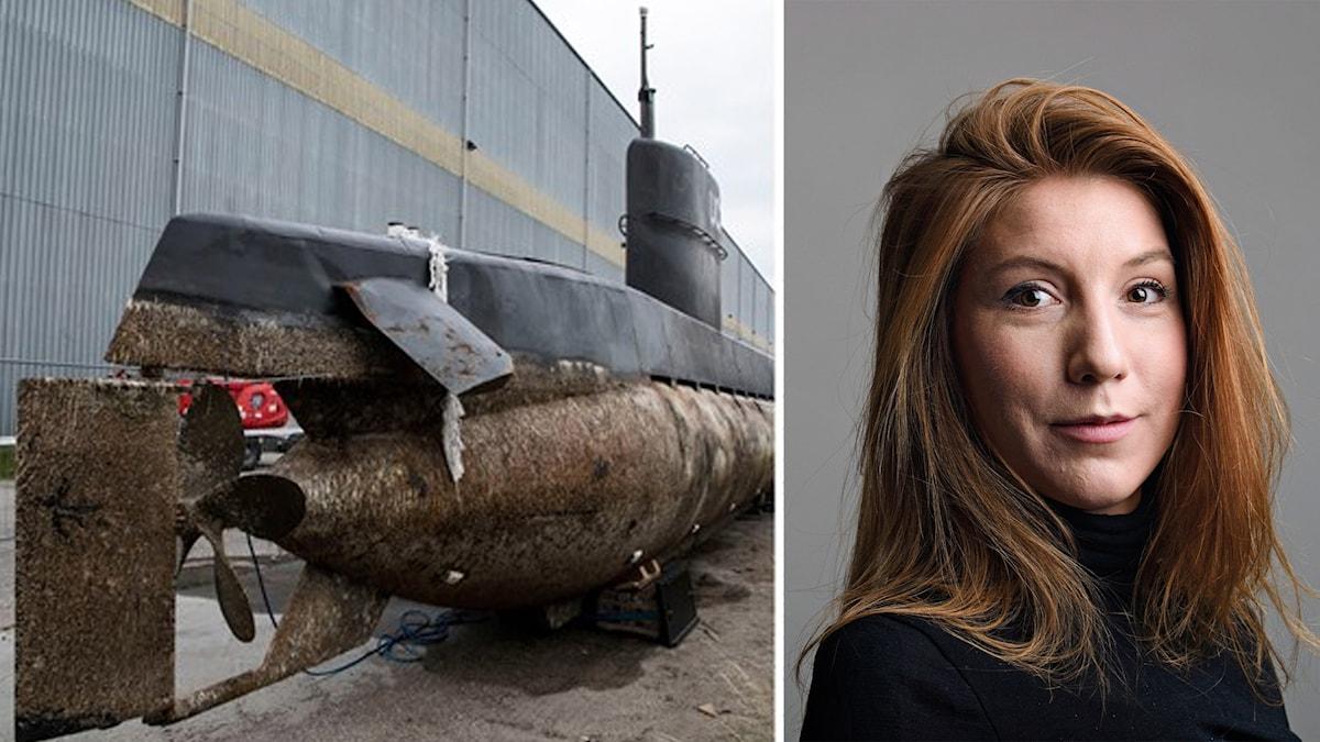 Ubåten och bild på Kim Wall