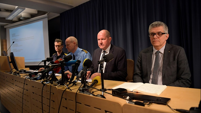 The police press conference