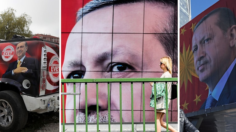Affischer på president Recep Tayyip Erdogan