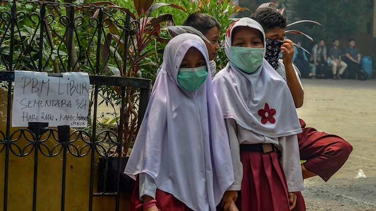 Skogsbrandsrök stänger skolor
