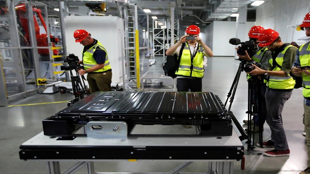 Teslas bilbatterifabrik i Nevada.