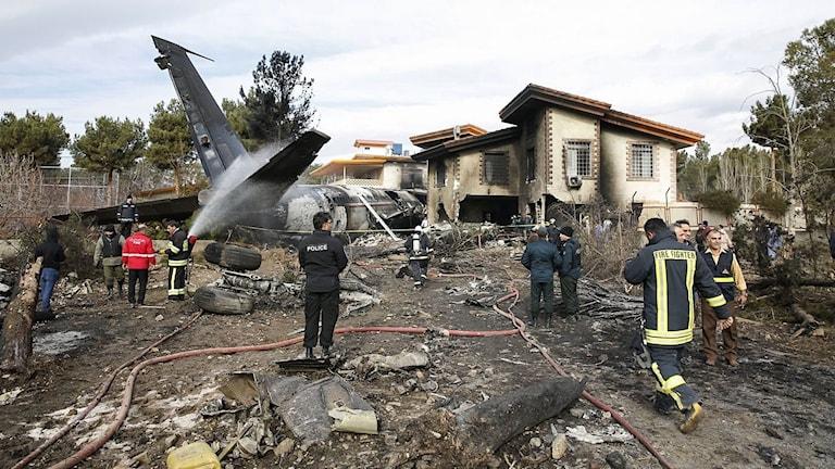 15 döda efter flygkrasch i Iran