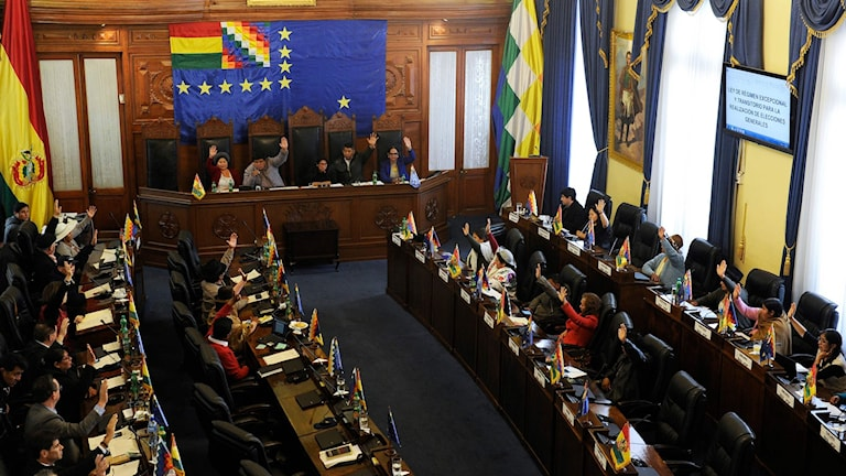 Omröstning i Bolivias kongress.