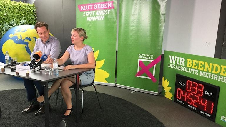 Toppkandidaterna för De Gröna i Bayern, Ludwig Hartmann och Katharina Schulze, vill bryta CSU:s majoritetsställning i delstaten.