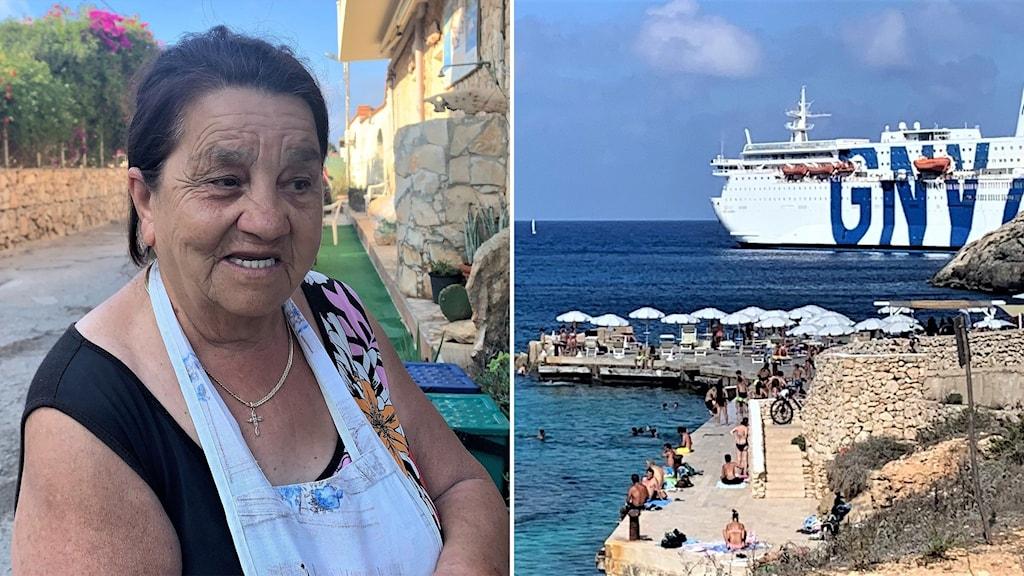 Lamdedusa - Francesca och ett karantänfartyg