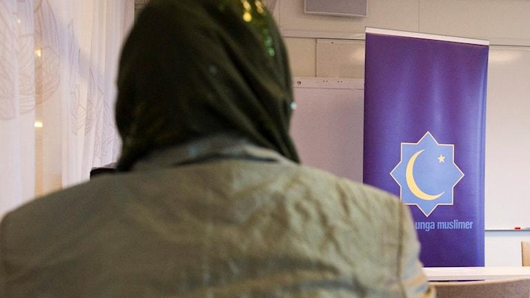 Bild från ett föredrag med Sveriges unga muslimer.