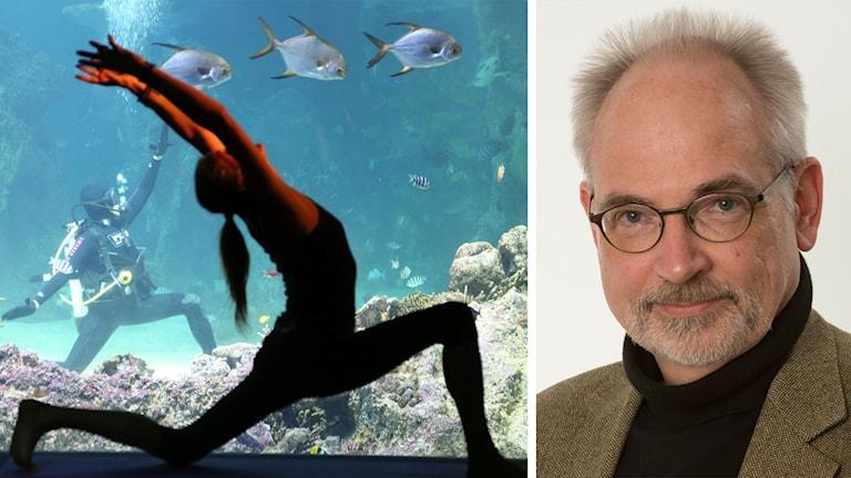 Yoga-utövare och Per Bauhn.