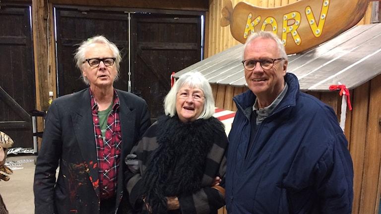 Tor Svae, Barbro Lindgren och Sven Ekberg i utställningen om Loranga