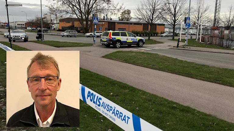 Avspärrning efter giftbrand i Kalmar Kenneth Emriksson räddningstjänsten montage