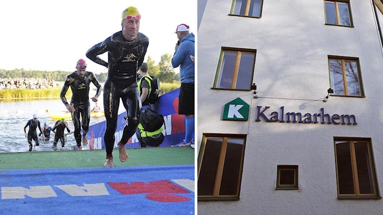 Kollage: Ironman Kalmar och Kalmarhem.