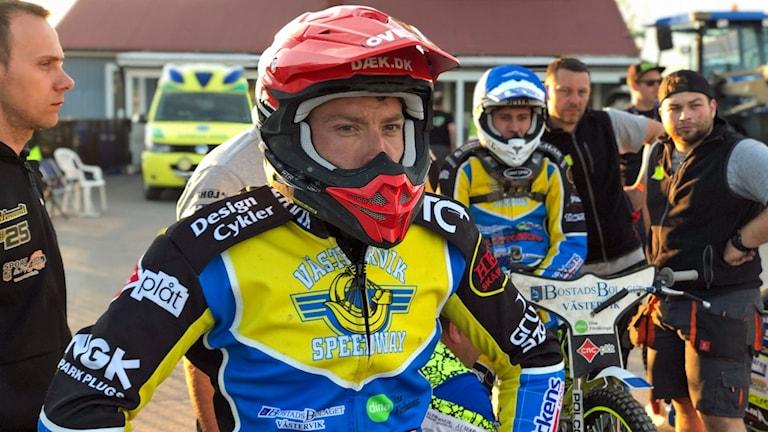 Peter Kildemand och Bartosz Smektala, Västervik speedway.