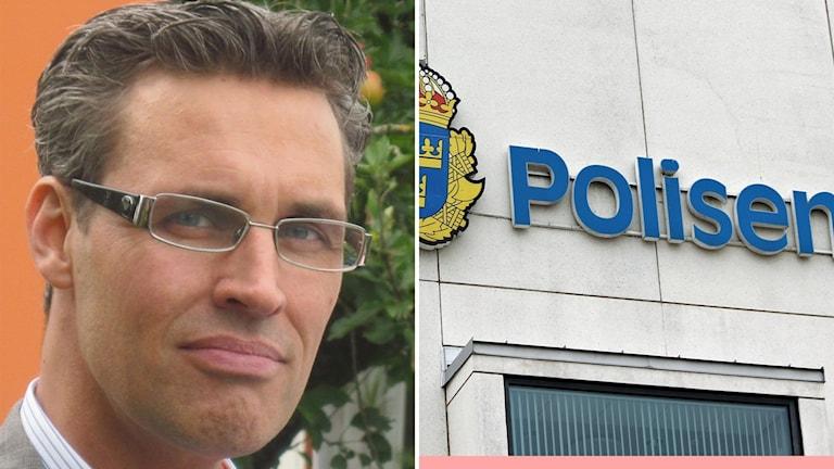 Montage: Jörgen Andersson och polisskylt