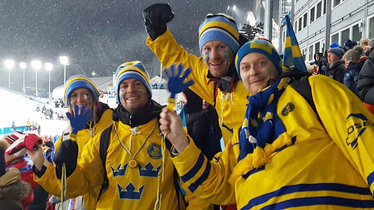 Lisa Hammarlund, Albin Martinsson, Anders Franklund och Henrik Aronsson upplever vinter-OS på plats i Pyeongchang.