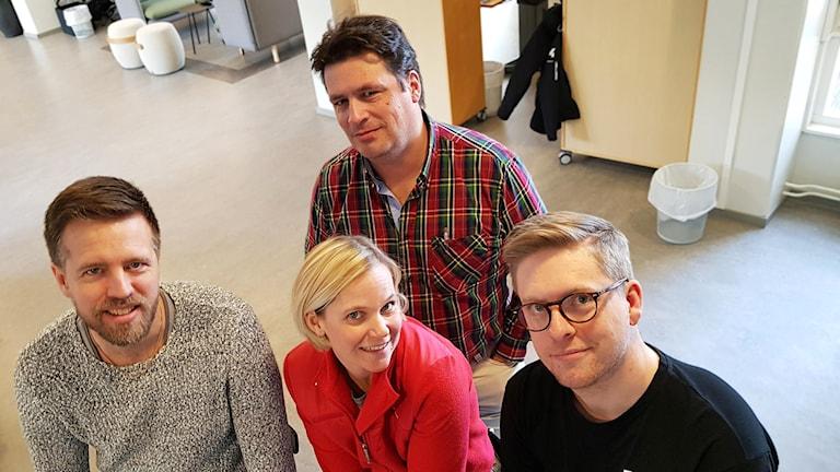 Joachim Lantz, Magnus Krusell, Karolina Sörman och Viktor Blomberg