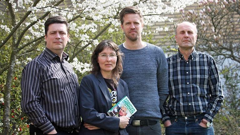Kalmar FF-panelen. Magnus Krusell, Lotta Zaar, Joachim Lantz, Bosse Nilsson.