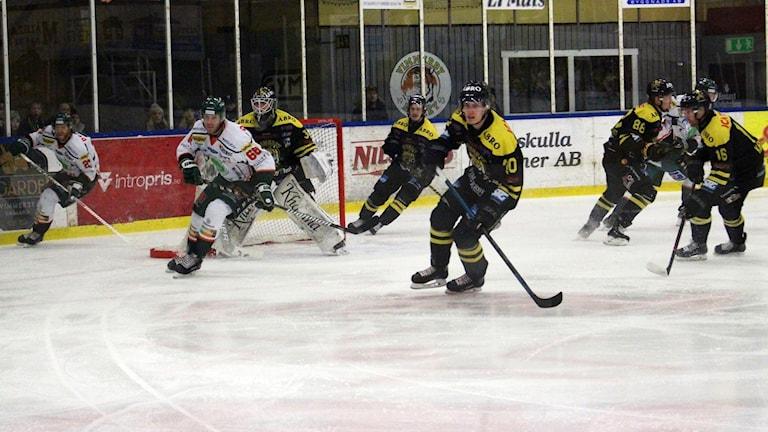 Bild från en ishockeymatch.