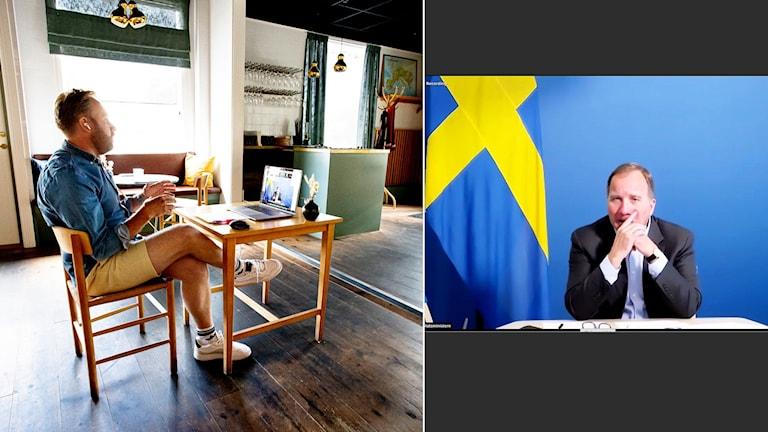 Martin Bergvall Nilsson i samtal med Stefan Löfven.