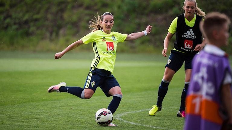 Fotbollsspelaren Kosovare Asllani.
