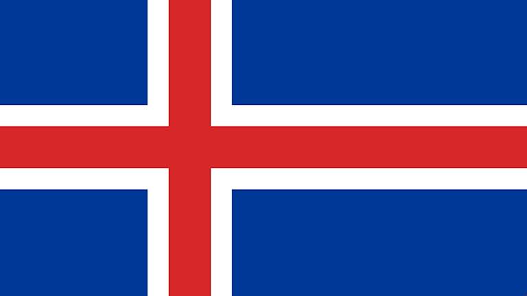 Isländsk flagga.