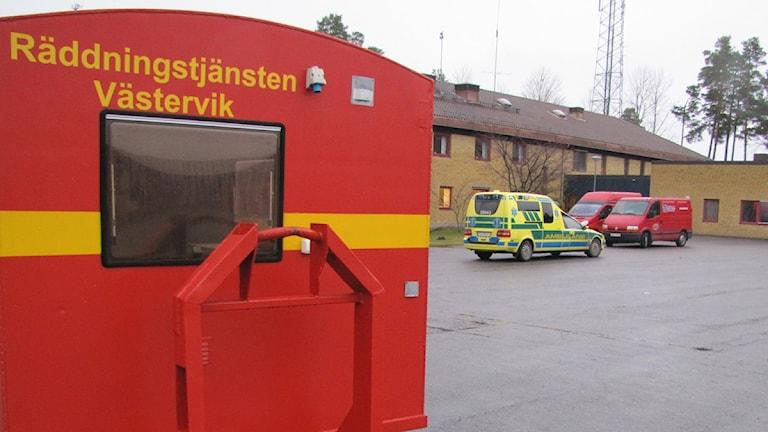 Räddningstjänsten i Västervik. Brandstation. Foto: Simon Leijnse/SR