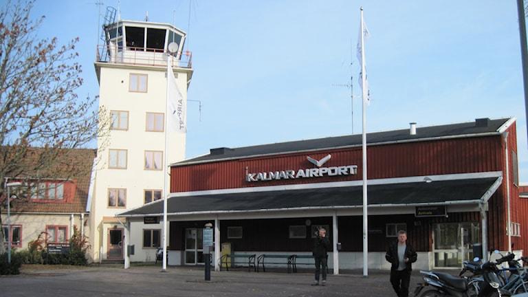 Kalmar flygplats. Foto: Dolores Tillaeus/SR