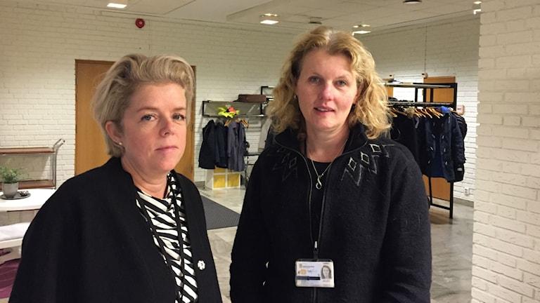 Cecilia Frid socialchef och Birgitta Jansson enhetschef Kalmar