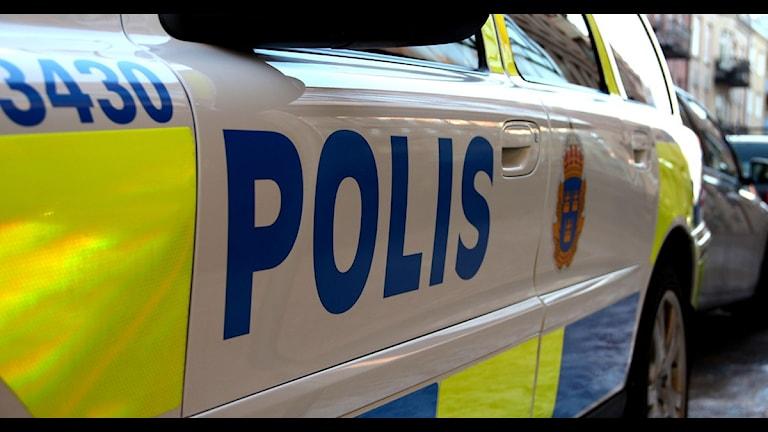 Polisbil. Arkivfoto: Cecilia Bäcklund/Sveriges Radio