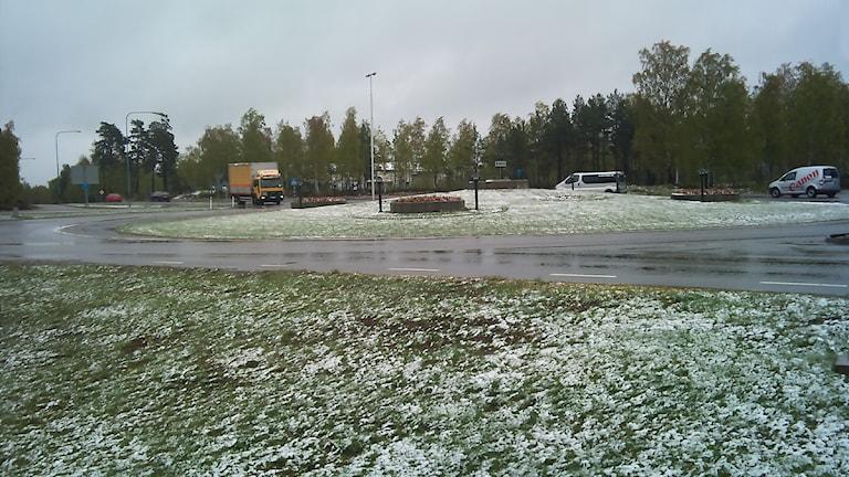 Snö i Västervik i maj 2011.