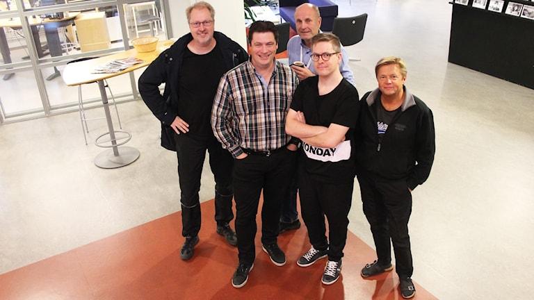 Mats Lindqvist Billmark, Magnus Krusell, Bosse Nilsson, Viktor Blomberg och Janne Rindstig.