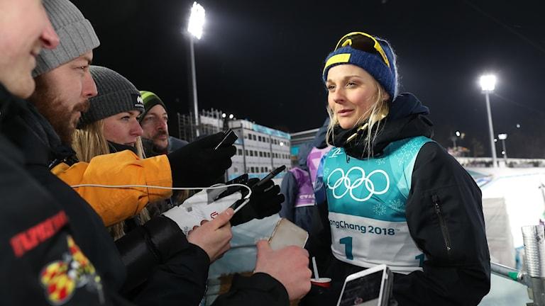 Stina Nilsson under vinter OS