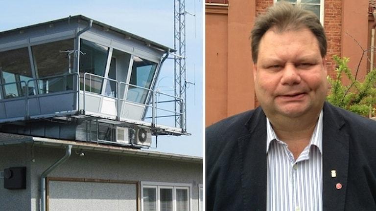 Flygledartorn och Peter Wretlund.