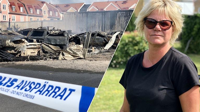 Helene Berglund, vittne till branden