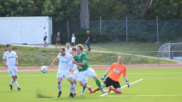 Oskarshamns AIK mot Ljungskile SK.