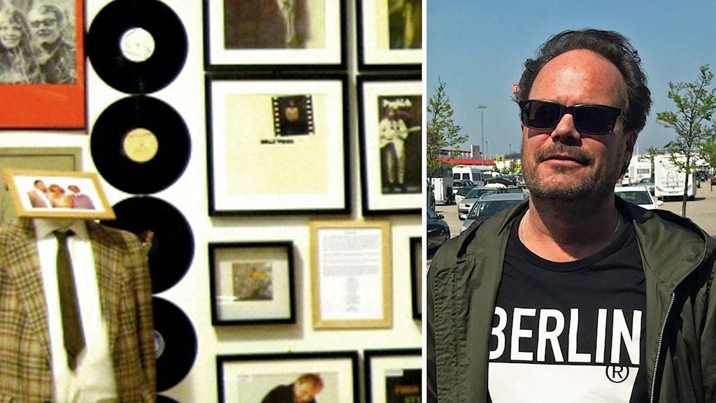 Kollage: Svenskt Rockarkiv i Hultsfred/Johan P Hammarstedt (MP), ledamot i Landstingets kulturnämnd.