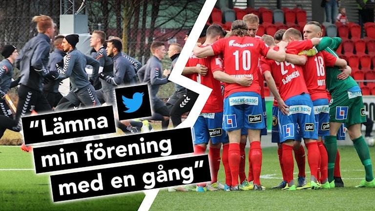 KFF- och Öster-spelare.