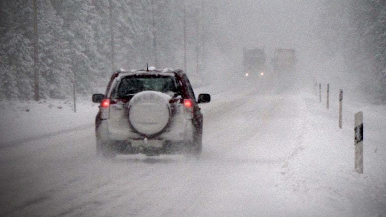 Trafik i snörök.