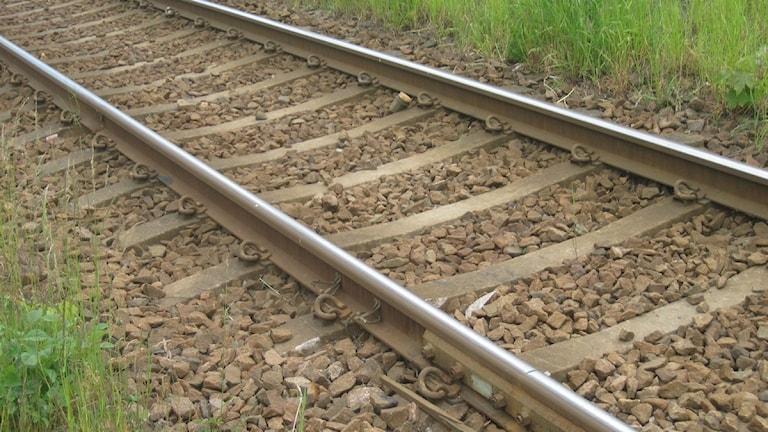 Järnvägsräls.