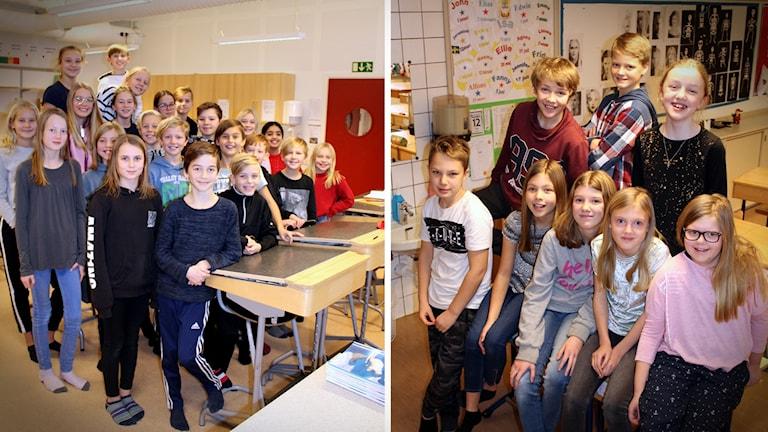 Rinkabyholmsskolan och Djursdala skola som tävlar i Vi i femman