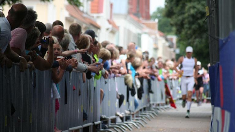 Ironman-publik vid löpningen 2012. Foto: Viktor Lovén/Sveriges Radio
