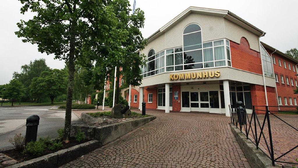 Kommunhuset i Hultsfred. Foto: Nick Näslund/Sveriges Radio.