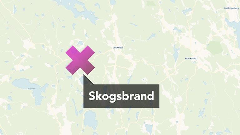 Karta Sverige Vimmerby.Tre Brandkarer Bekampar Skogsbrand I Vimmerby Kommun P4 Kalmar