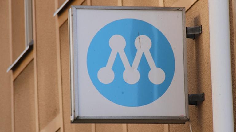 Skylt utanför moderaterna lokal i Kalmar. Arkivfoto: Felicia Werthwein Svensson/Sveriges Radio