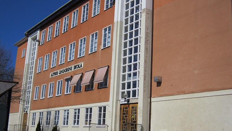 Astrid Lindgrens skola, fasad.