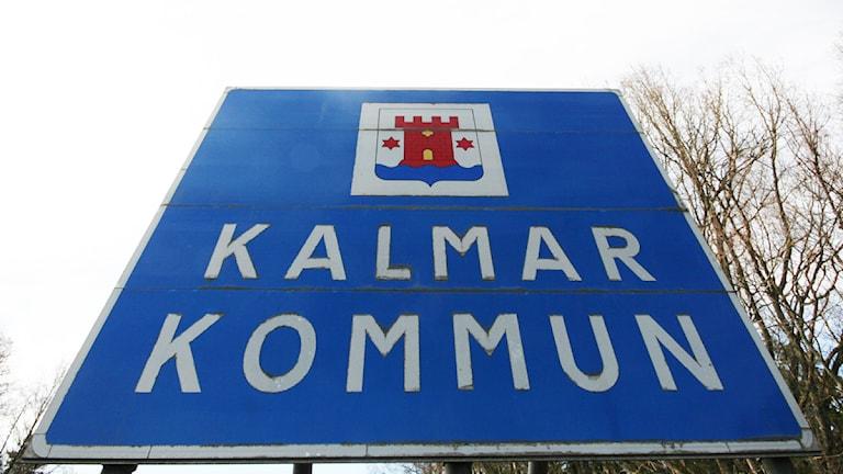 Vägskylt: Kalmar kommun. Foto: Nick Näslund/Sveriges Radio.