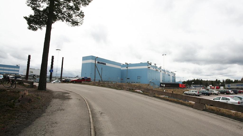 Scanias fabrik. Foto: Nick Näslund/Sveriges Radio.