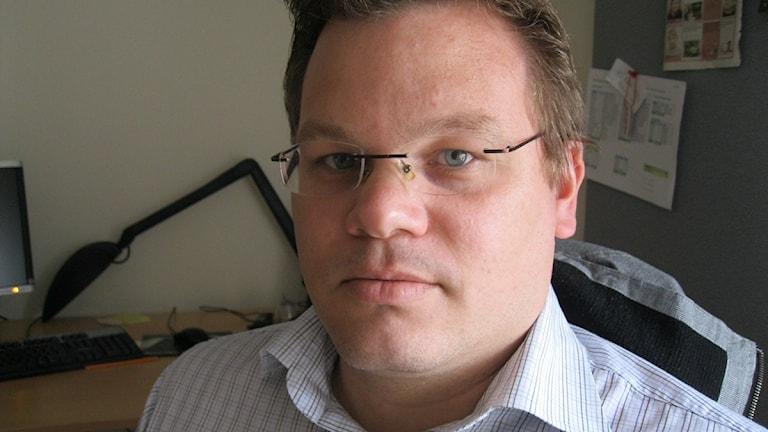 Andreas Erlandsson (S) ordförande i socialnämnden i Oskarshamn. Arkivfoto: Tobias Sandblad/Sveriges Radio