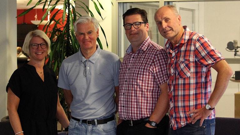 Jenny Wennesund, Nanne Bergstrand, Magnus Krusell och Bosse Nilsson i KFF-panelen.