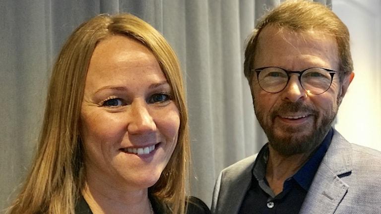 Stina Porsgaard och Björn Ulvaeus.